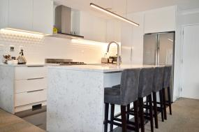 high quality white feature kitchen